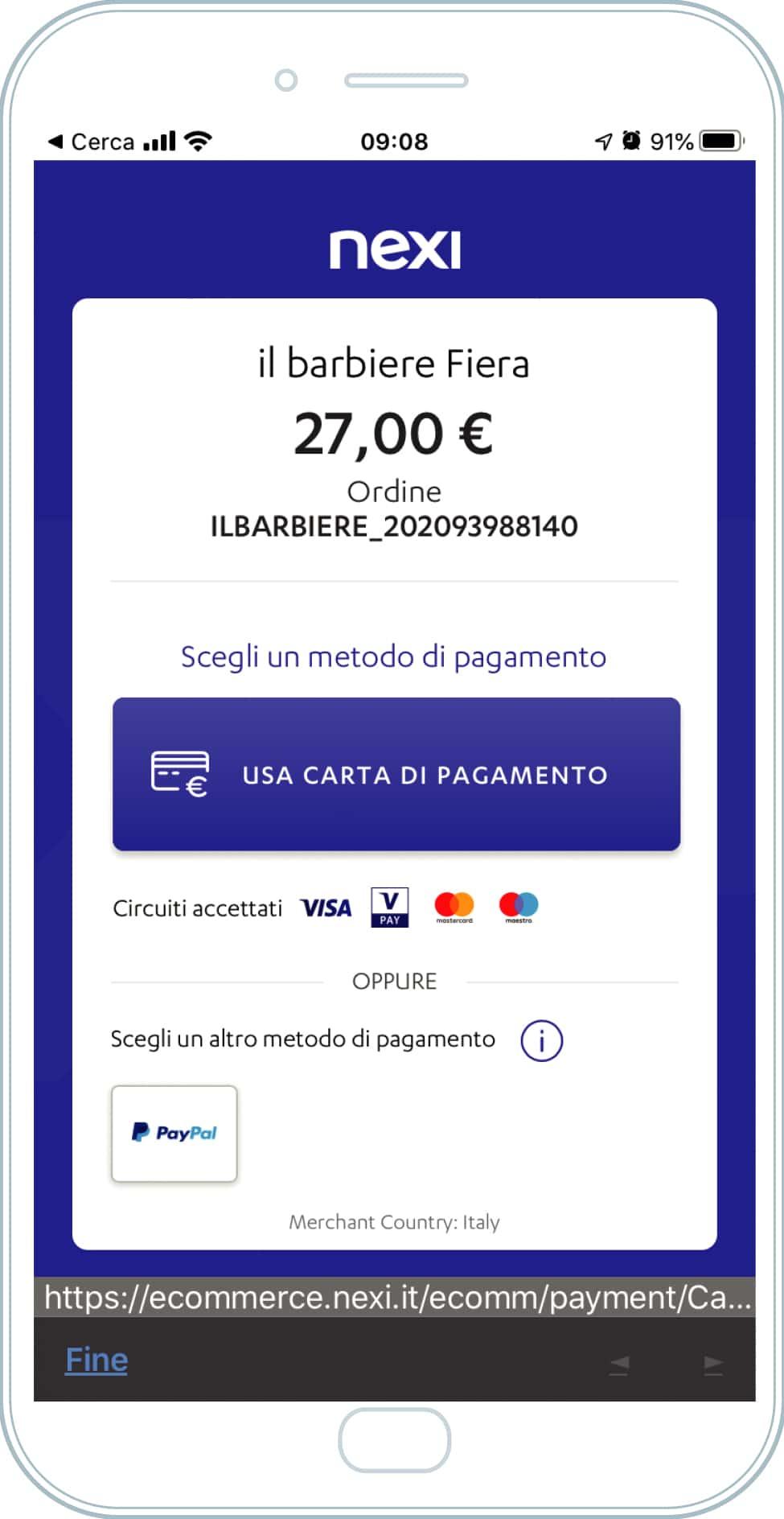 Usa l'app - paga